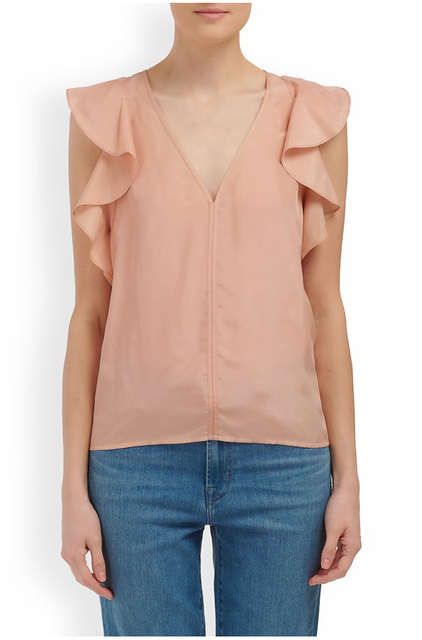 neho sleeveless top in poudre