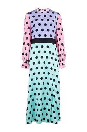 marley dress in polka dot mix