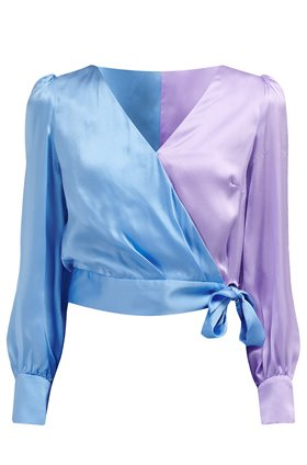 abbie top in blue lilac