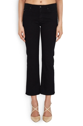 AG Jodi Crop Jean in Black Overdye