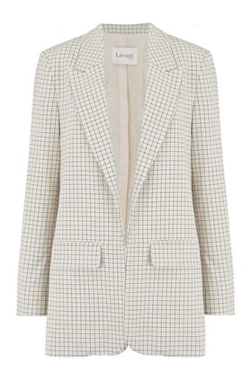 isolde check blazer