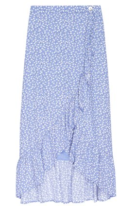 nova skirt in sky blue daisies