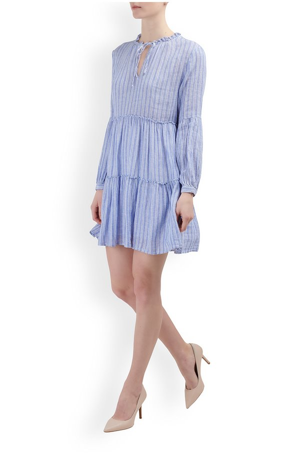 everly dress in ludlow stripe