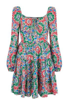 roxy dress in hibiscus floral