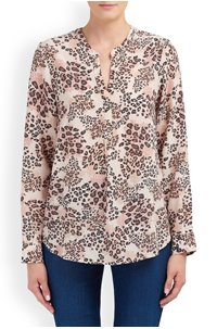 lucille blouse in animal natural