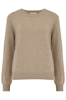 elbow patch crew in light brown