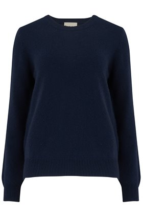 elbow patch crew in navy