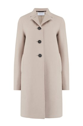 boxy coat in almond