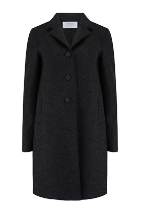 boxy coat in anthracite