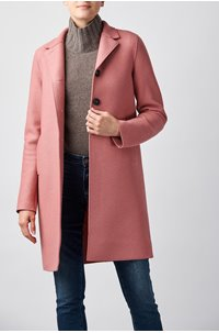 boxy coat in dusty rose