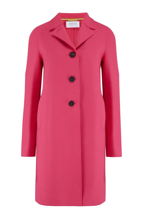 boxy coat in hot pink