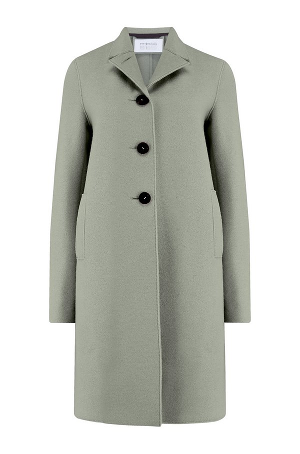 boxy coat in sage green