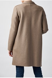 boxy coat in taupe