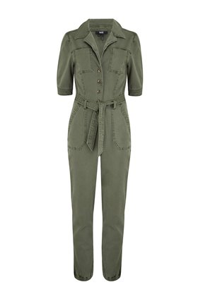 mayslie jumpsuit in vintage ivy green