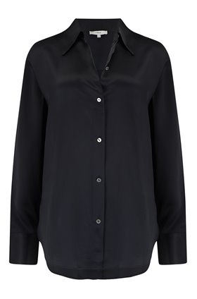 shaped collar shirt in black