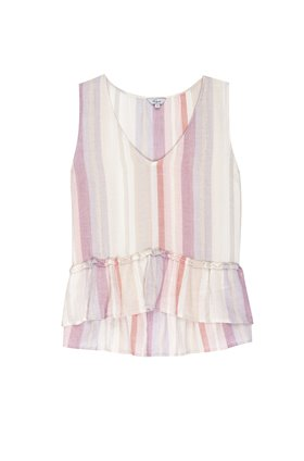 mira top in juliette stripe