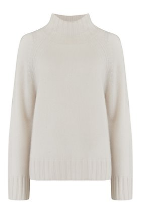 leighton turtleneck jumper in chalk