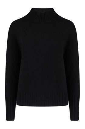 lyra turtleneck jumper in black