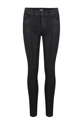 hoxton ankle jean in black fog coating