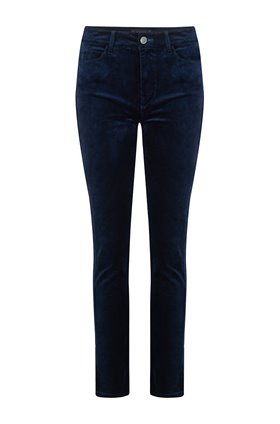 cindy straight leg jean in deep navy velvet