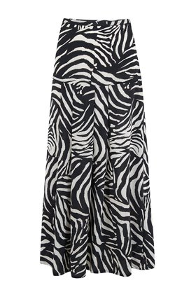 nancy skirt in zebra mono
