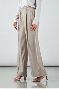 flannel wide leg trouser in h oatmeal