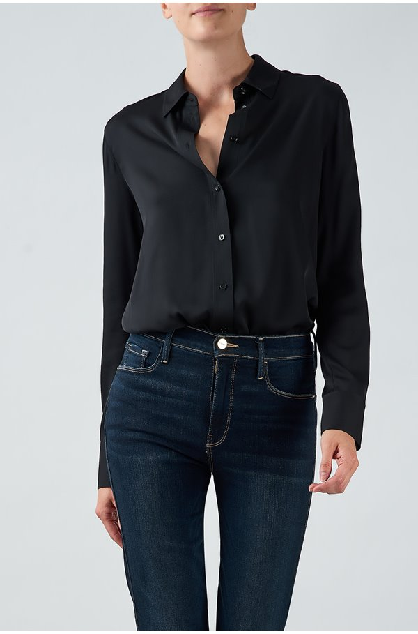 slim fitted shirt in black