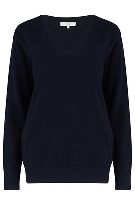 weekend v-neck jumper in coastal