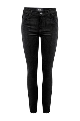 hoxton ankle jean in black velvet