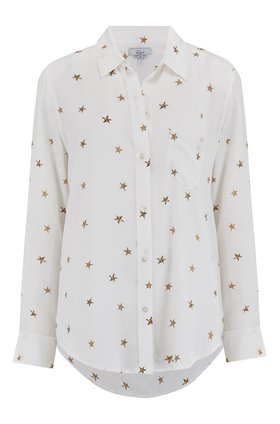 kate shirt in ivory animal stars