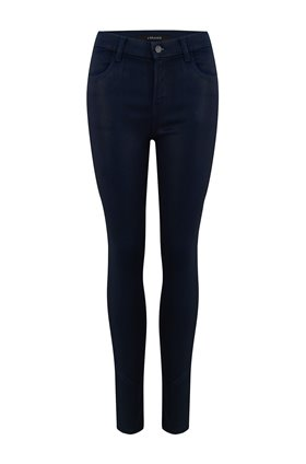 maria skinny jean in coated electric
