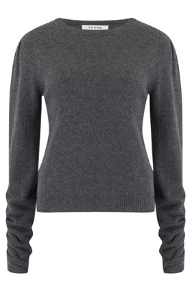 gabby sweater in dark grey heather