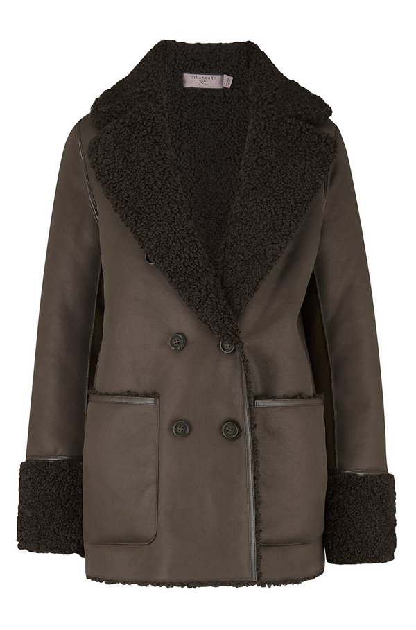 siris reversible peacoat in khaki