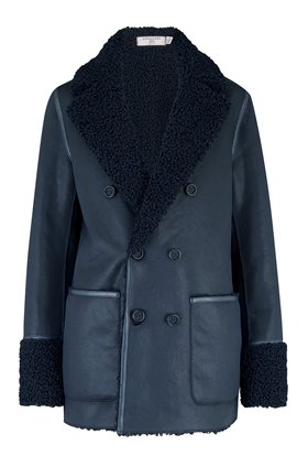 siris reversible peacoat in navy