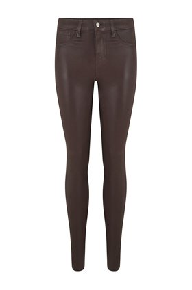 marguerite skinny jean in cocoa coated