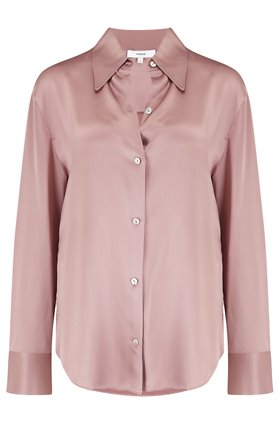shaped collar shirt in mauve orchid