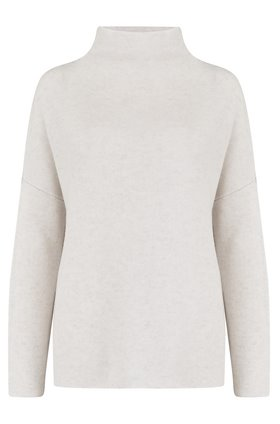 funnel neck jumper in white