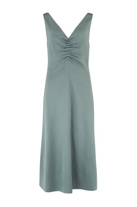ruched dress in patina