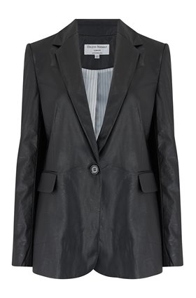 carine vegan leather jacket in black