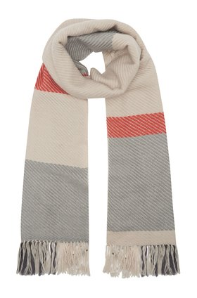 mika scarf in grey & orange