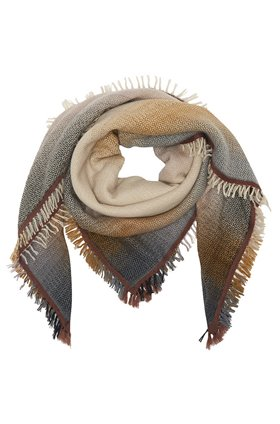 horizon scarf in ecru & brown