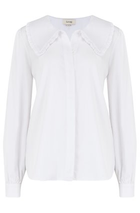 isla big collar blouse in white
