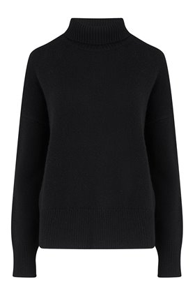 malo funnel neck in black