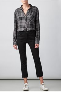 hunter shirt in charcoal jett