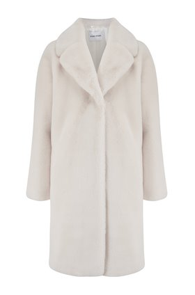 camille cocoon coat in white