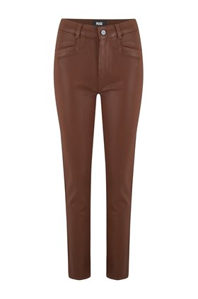 hoxton slim ankle jean in cognac coated