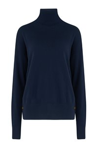 side button jumper in navy