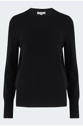 sanni crew jumper in black