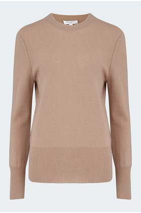 sanni crew jumper in camel