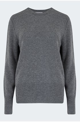 sanni crew jumper in heather grey